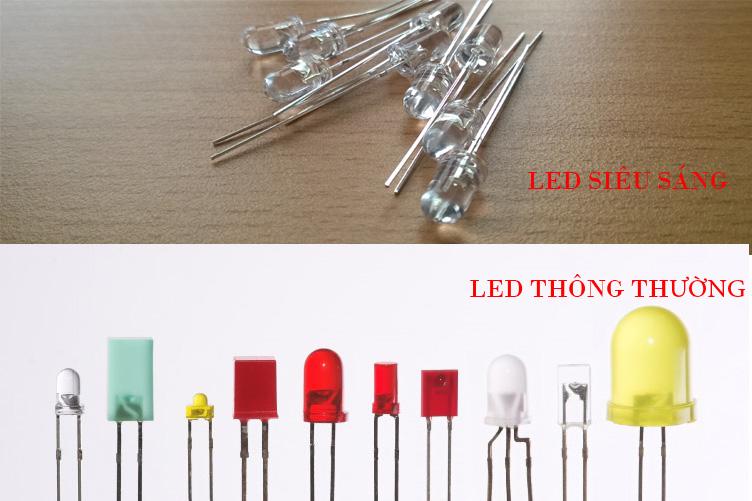 LED siêu sáng và LED thông thường