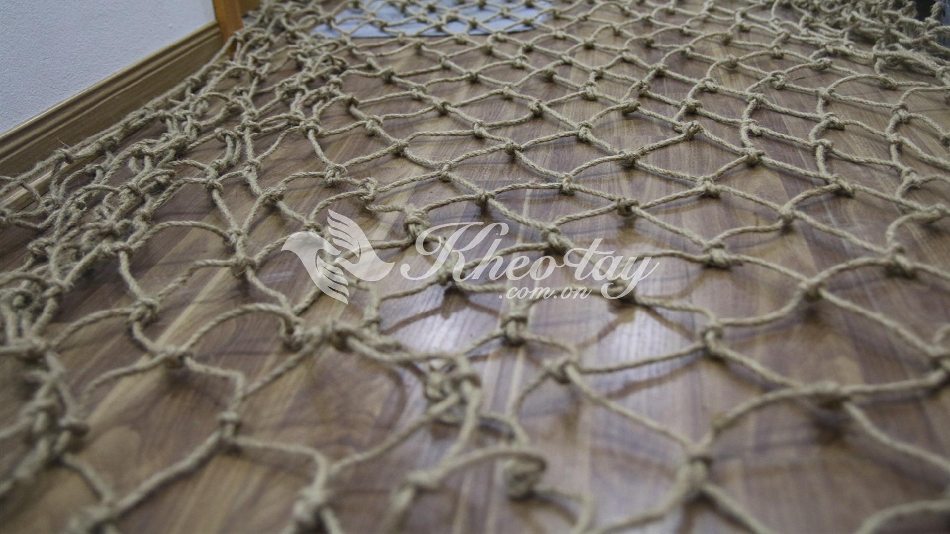 Lưới dây thừng trang trí - Đường kính dây: 5mm - Mắt lưới 10cm