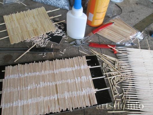 Cách làm ngôi nhà sàn xinh xắn bằng tăm tre