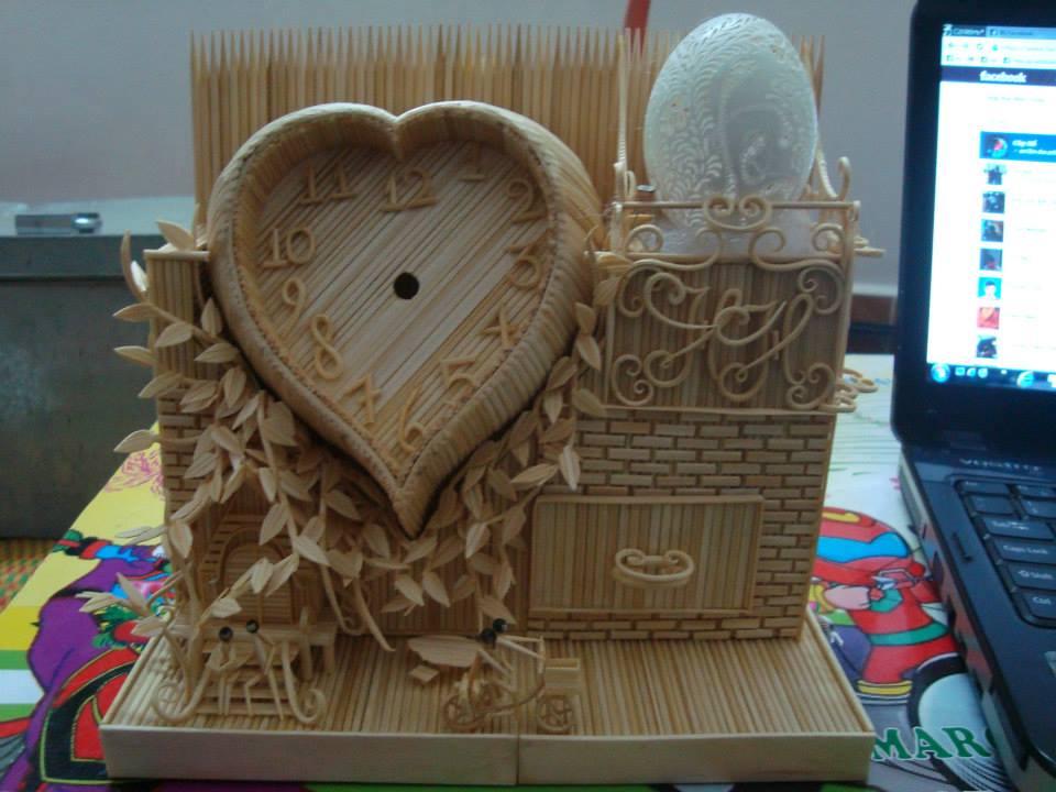 Đẹp lạ với các sản phẩm handmade làm từ tăm tre