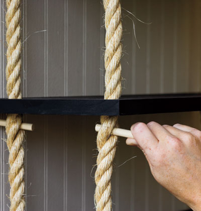 Cách làm kệ treo tường độc đáo bằng dây thừng