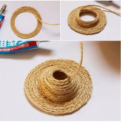 Cách làm móc khóa hình mũ bằng dây thừng