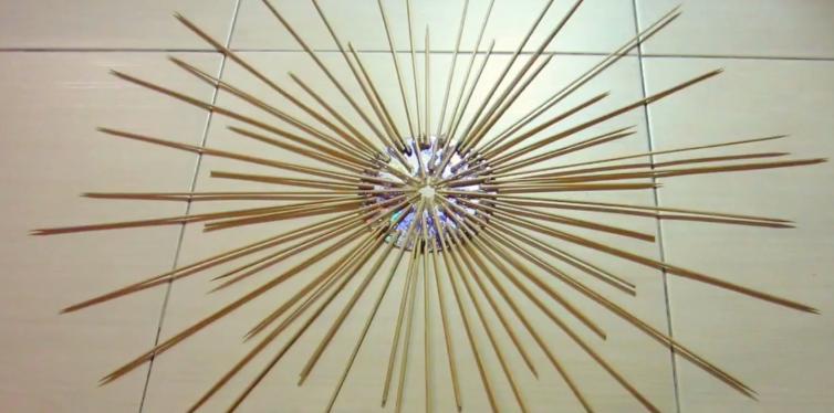 Trang trí nhà bằng đồ handmade bằng tăm tre