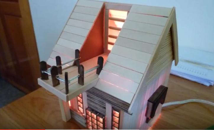 Cách làm mô hình nhà bằng que kem siêu độc đáo