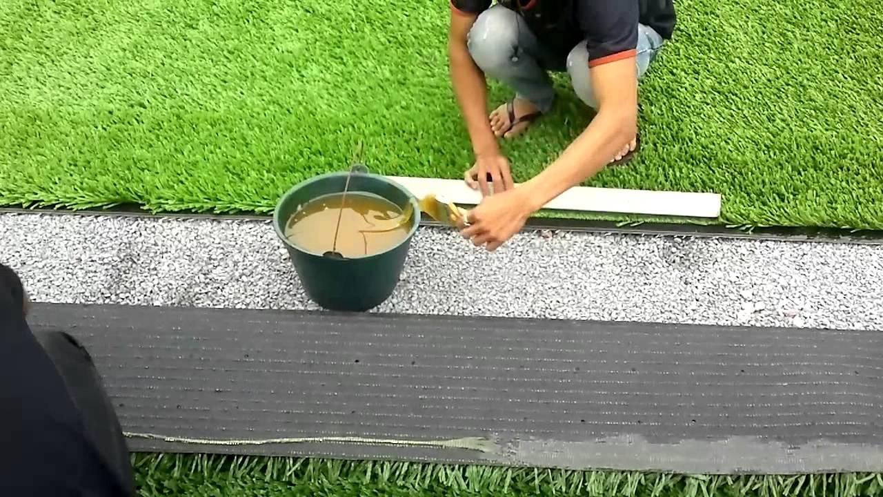 Cách thi công thảm cỏ nhân tạo trang trí nội ngoại thất