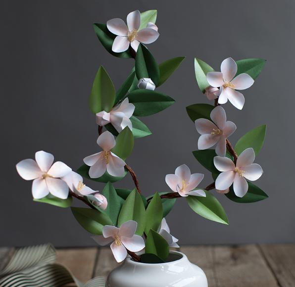 Trang trí nhà xinh bằng hoa giấy handmade tuyệt đẹp