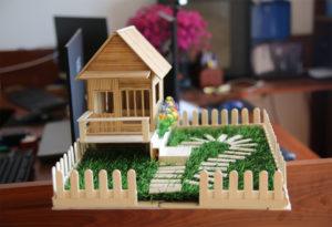 Cách làm nhà tăm tre đơn giản