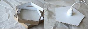 Cách làm đèn chụp treo nhà đẹp mắt bằng giấy cứng