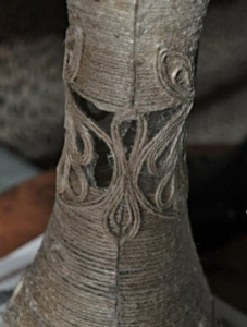 Cách làm bình hoa để bàn bằng dây thừng