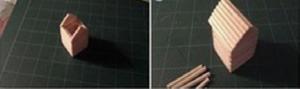 Cách làm móc khóa ngôi nhà xinh xắn bằng tăm tre
