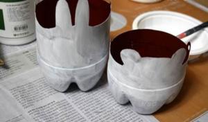 Cách làm chậu cây xinh xắn bằng vỏ chai nhựa