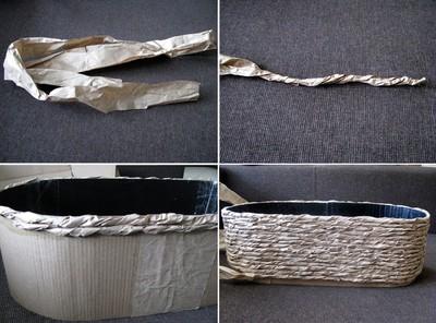 Cách làm áo giỏ cho giỏ lan hồ điệp bằng giấy và keo sữa