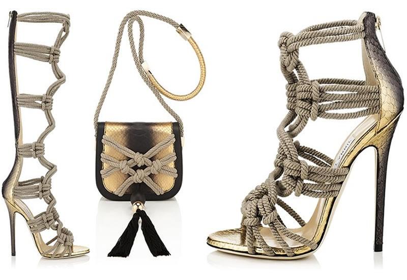 Cách trang trí giày bằng họa tiết dây thừng cực độc đáo