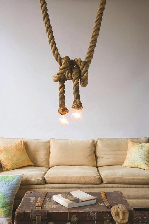 Trang trí nhà xinh với họa tiết dây thừng độc đáo