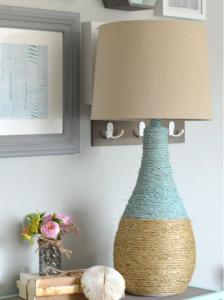 Cách trang trí đèn để bàn bằng dây thừng đẹp mắt