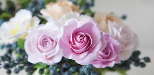 Cách làm hoa hồng bằng đất sét Nhật tuyệt đẹp