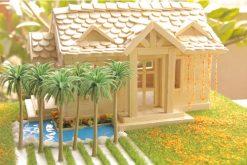 Cách làm nhà que kem có sân vườn và hồ bơi