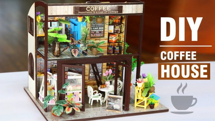 Làm mô hình DIY - Tiệm cafe ngọt ngào
