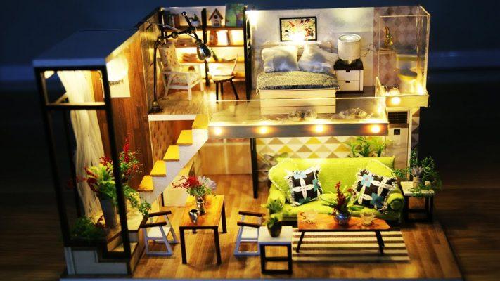 Cách làm mô hình nhà gỗ DIY có đủ nội thất