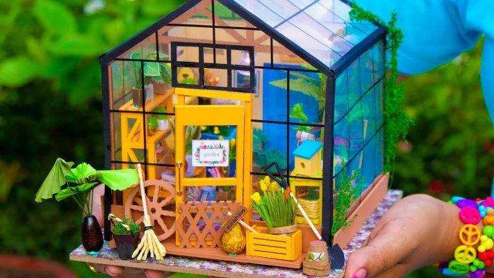 Làm mô hình nhà vườn thu nhỏ tràn ngập màu xanh