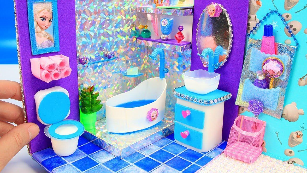 Làm mô hình phòng ngủ và phòng tắm nữ hoàng băng giá