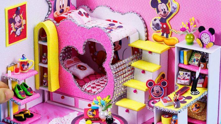 Làm nhà mô hình thu nhỏ Mickey Mouse