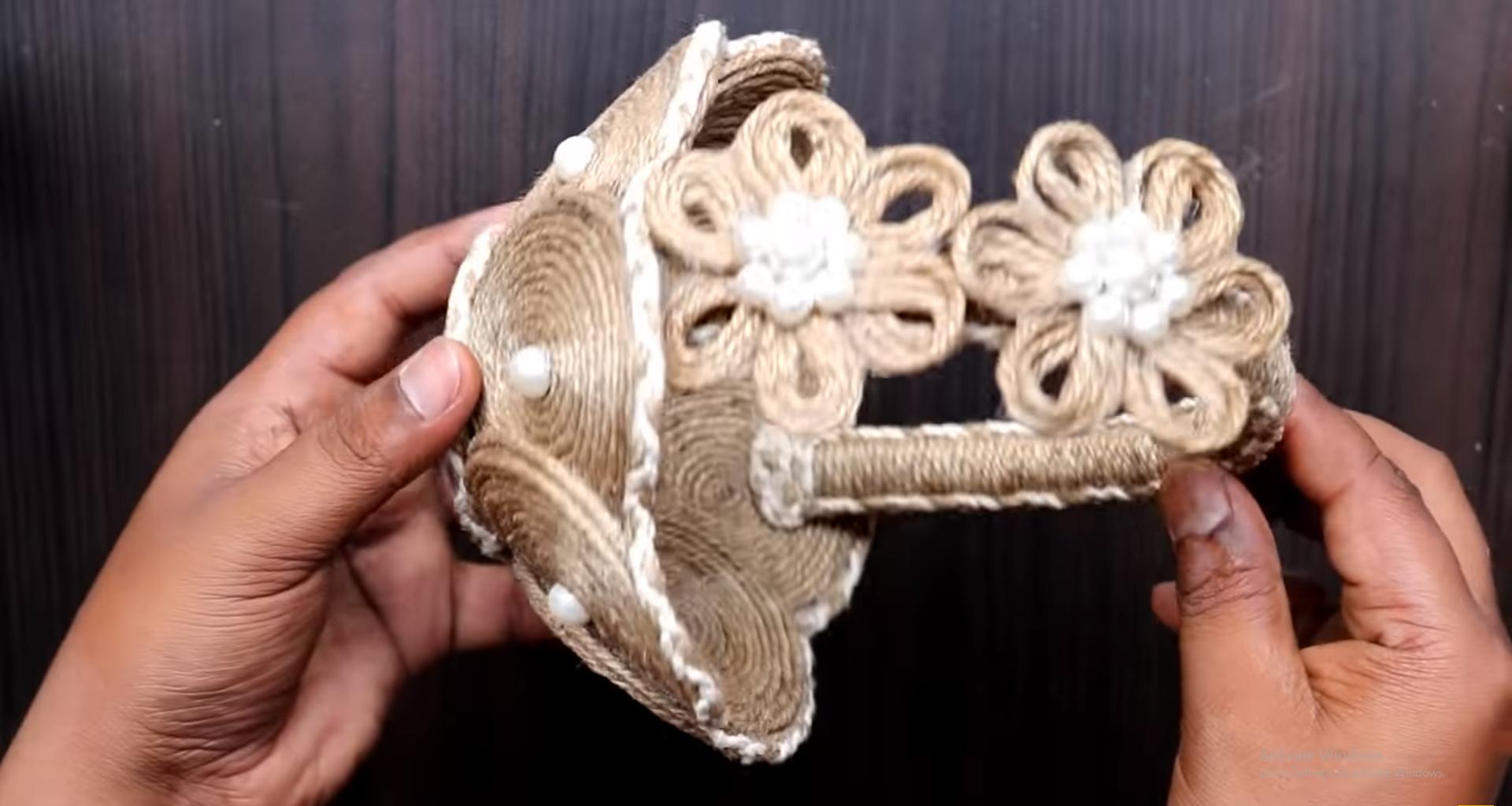 Cách làm giỏ đựng hoa quả từ dây thừng handmade