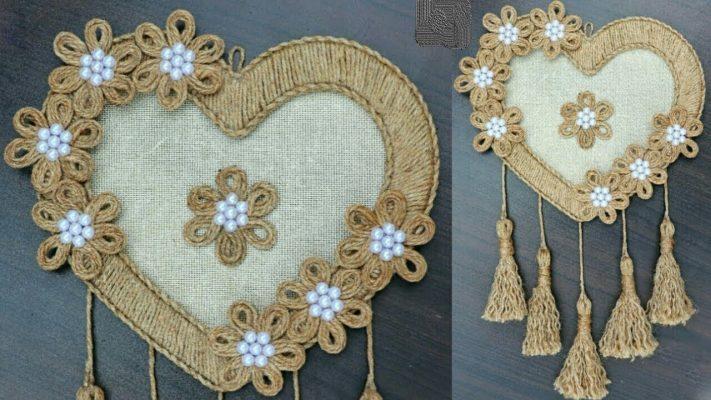 Cách làm trái tim trang trí cửa phòng từ dây thừng handmade