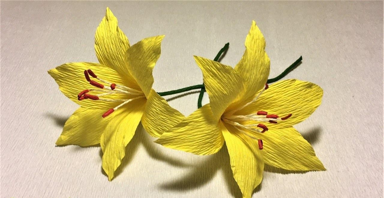 Cách làm hoa Ly đơn giản từ giấy nhún