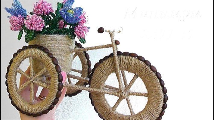 Cách làm xe đạp từ dây thừng handmade