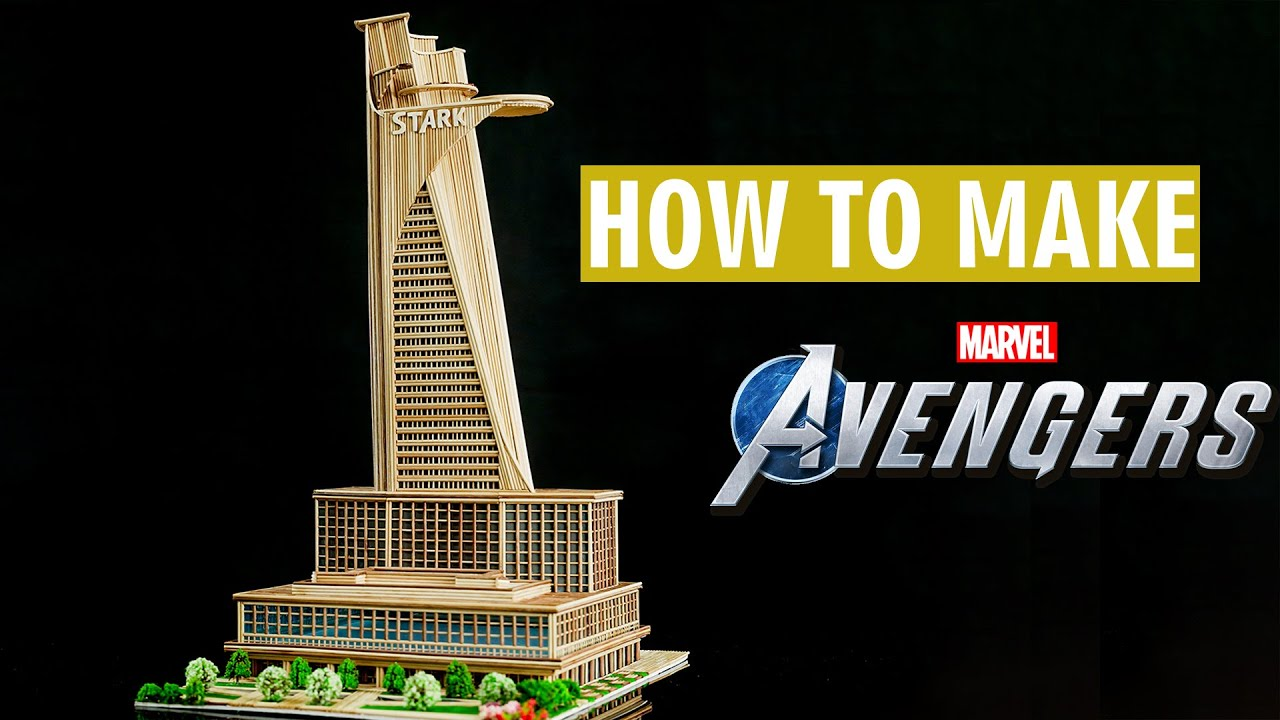 Cách làm tháp Avengers bằng tăm tre