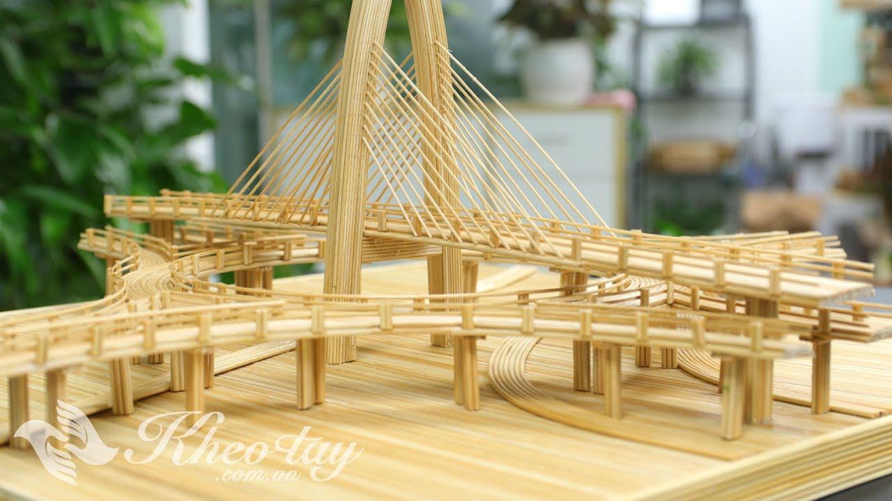 Cầu Đà Nẵng - Ngã 3 Huế bằng tăm tre